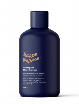 aaron wallace black men hair and beard shampoo